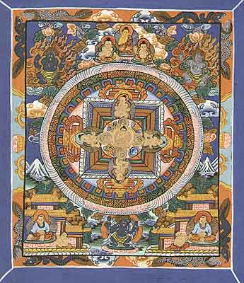 Mini Thangka Buddha Mandala